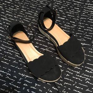 bamboo black platform sandals